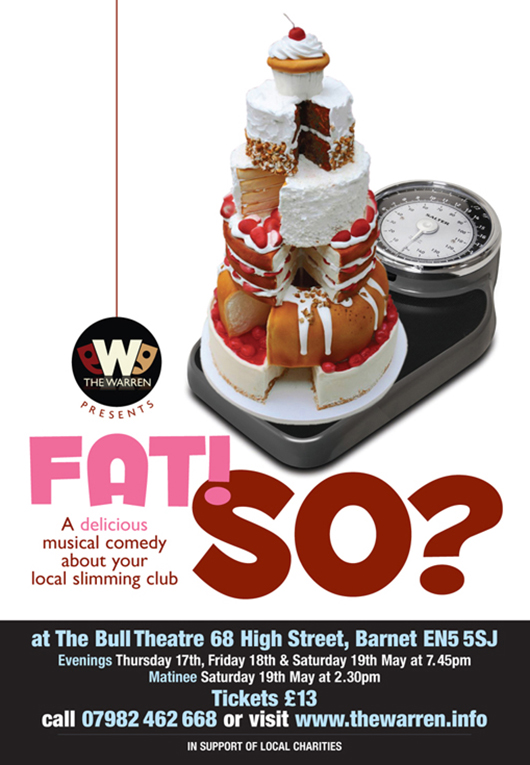 Poster for Fat! So?, our 2018 summer show